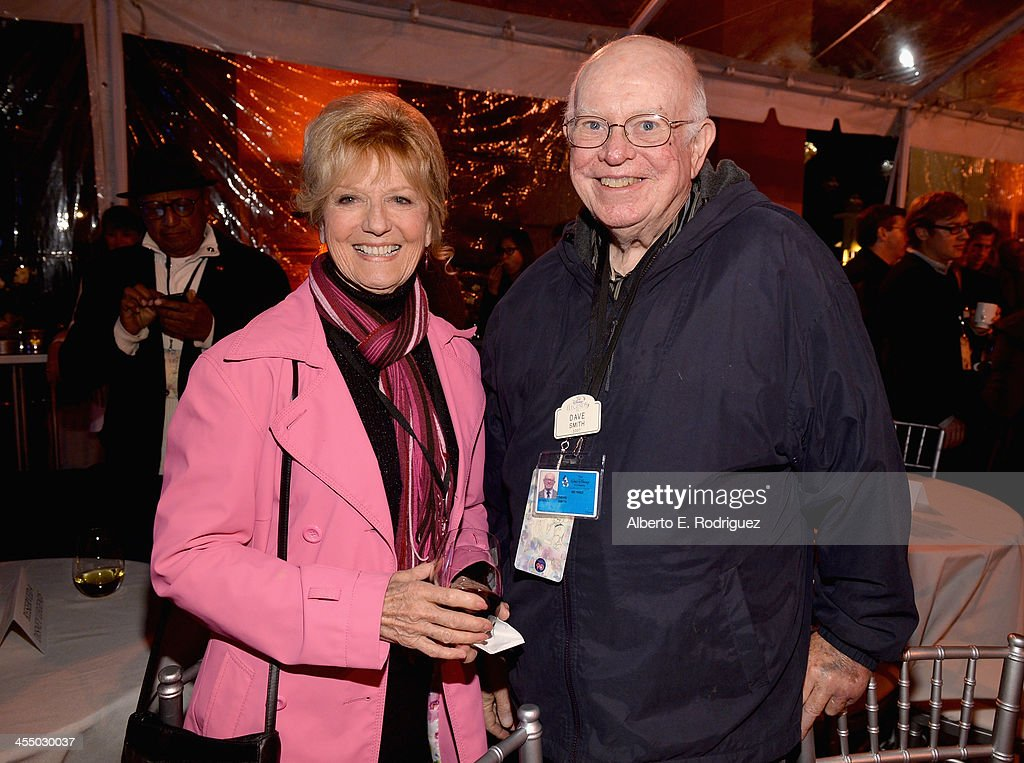Voice actress Kathryn Beaumont (L) and archivist Dave Smith attend the 90 Years of Disney Animation celebration at Walt Disney Studios on December 10, 2013 in Burbank, California.
