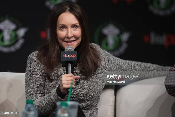Voice Actress Tress Macneille speaks on stage during Emerald City Comicon at Washington State Convention Center on March 5 2017 in Seattle Washington