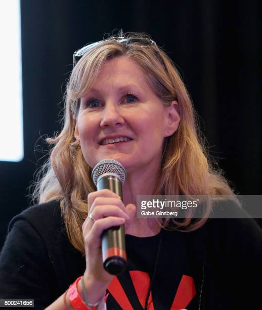 Voice actress Veronica Taylor speaks during the 'Pokemon More Spotlight on Veronica Taylor' panel at the Amazing Las Vegas Comic Con at the Las Vegas...
