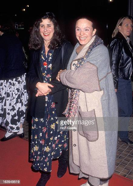 Voice artist Julie Kavner and actress Valerie Harper attend the 'This Is My Life' Westwood Premiere on February 18 1991 at Avco Center Cinemas in...