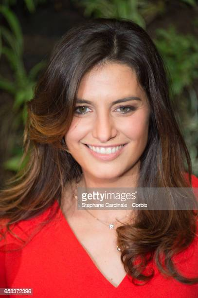 Voice of 'Smurfette' Laetitia Milot attends the 'Smurfs The Lost Village Paris photo call at Hotel Pershing Hall on March 27 2017 in Paris France