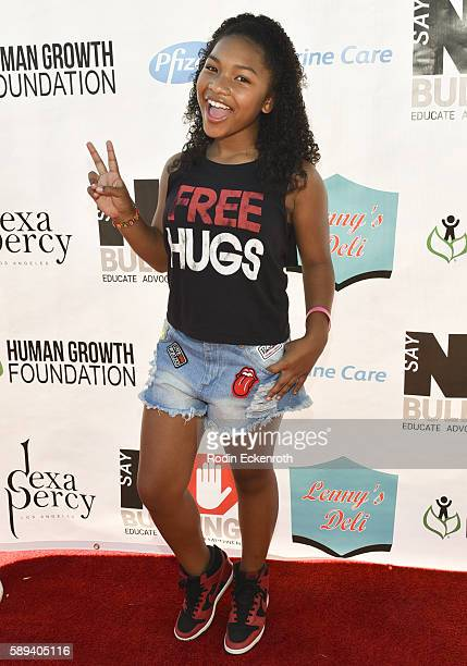 Voiceover actress Laya DeLeon Hayes attends the Say NO Bullying Festival at Griffith Park on August 13 2016 in Los Angeles California