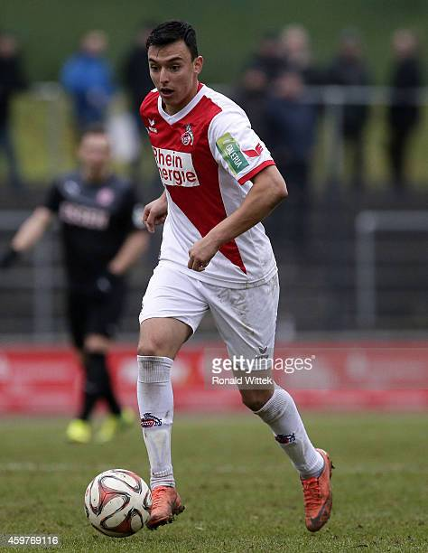 Vojno Jesic of Koeln runs with the ball during the Regionalliga West match between 1 FC Koeln II and RotWeiss Essen at FranzKremerStadion on November...