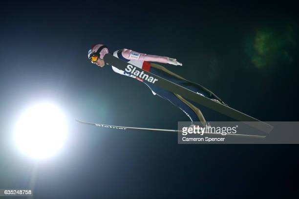 Vojtech Stursa of the Czech Republic jumps during trainining for the 2017 FIS Ski Jumping World Cup test event For PyeongChang 2018 at Alpensia Ski...