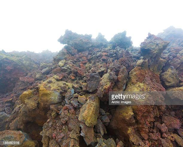 Volanic Crater-lava rocks