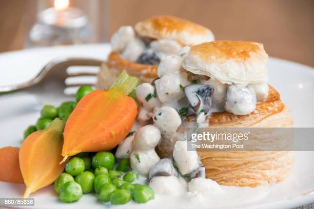 VolauVent Puff Pastry Shell Chicken Dumplings Button Mushrooms Green Peas Carrots at Stable
