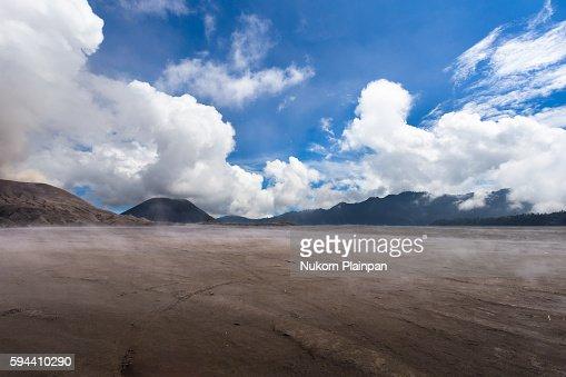 Volcanic ash land