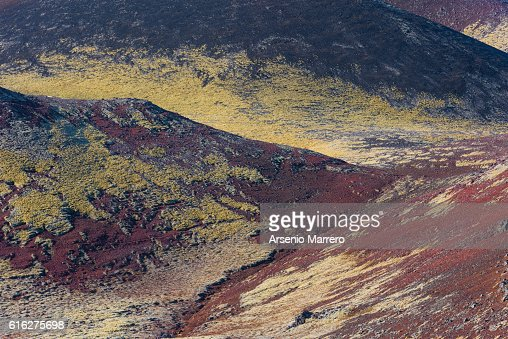 Volcanic colors in Iceland : Stock Photo