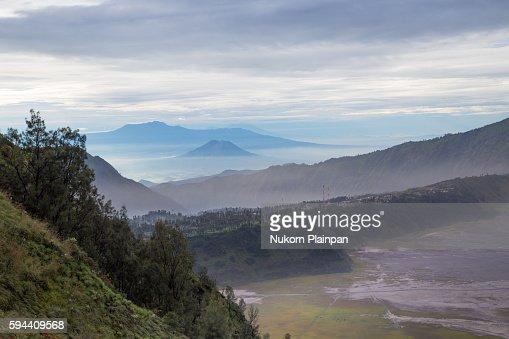 Volcanic crater near Mt. Bromo, Indonesia