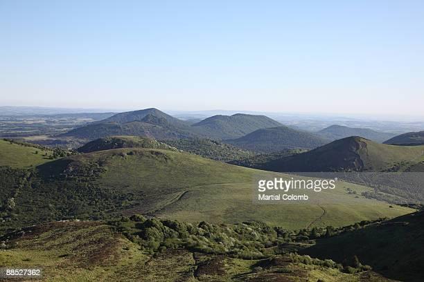 volcanic landscape in Auvergne
