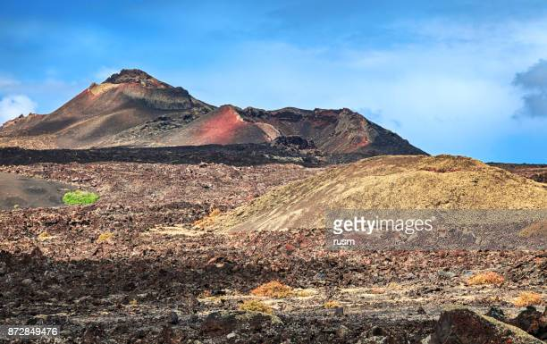 Volcanic landscape in Timanfaya National Park, Lanzarote, Canary Islands