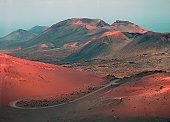 Volcanic landscape of Timanfaya Volcano Park