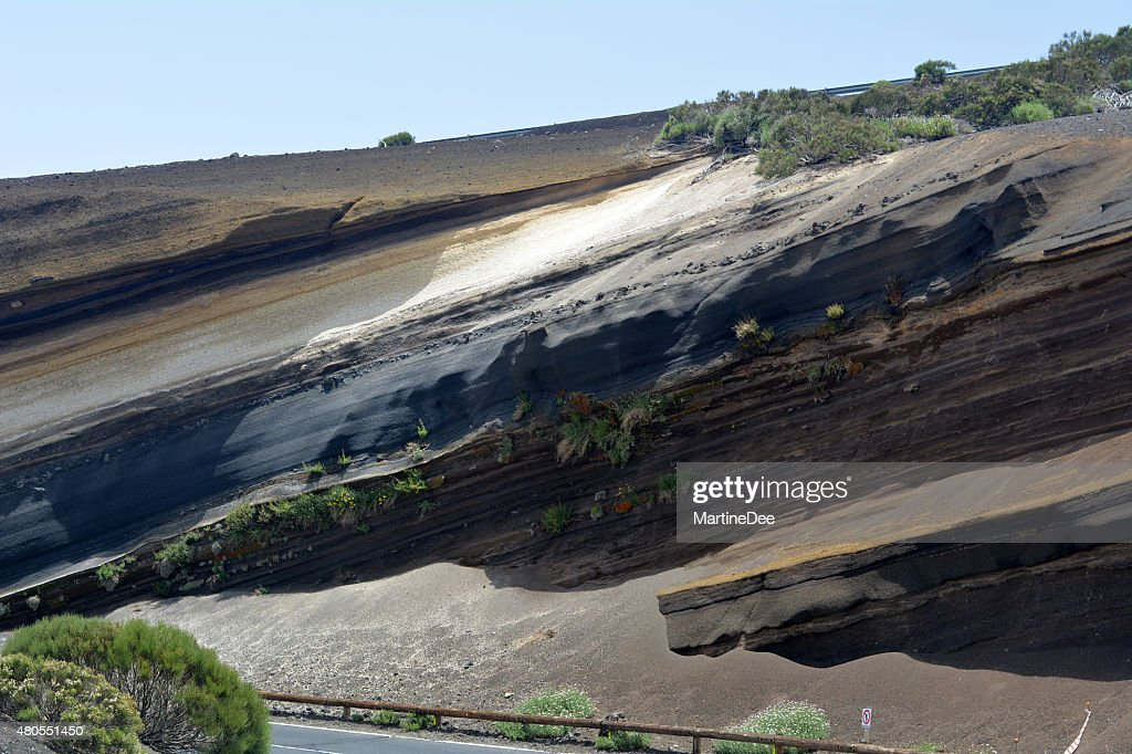 Volcanic landscape on Teide, Tenerife, Canary Islands, Spain : Stock Photo