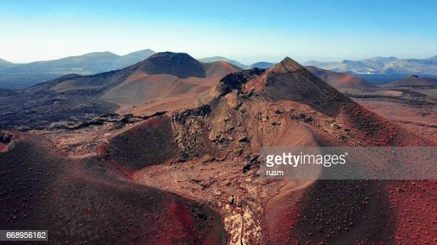 Volcanic landscape, Timanfaya National Park, Lanzarote, Canary Islands
