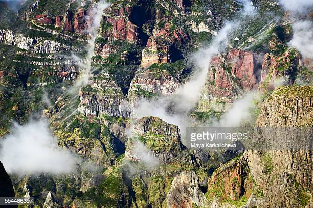 Volcanic mountain ridges of Madeira island