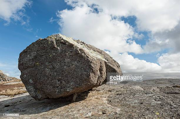 Volcanic rock on Pike of Blisco in Lake District, England