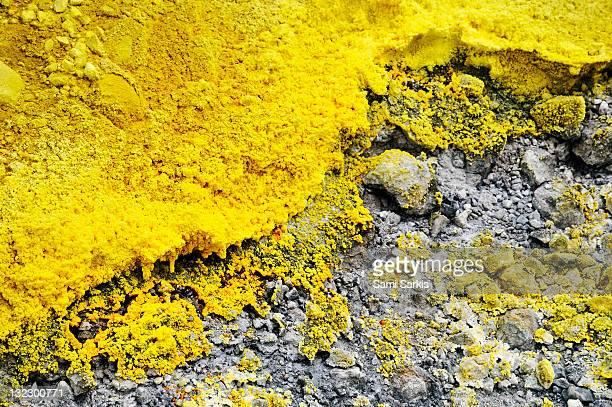 Volcanic sulphur, Vulcano Island, Sicily, Italy
