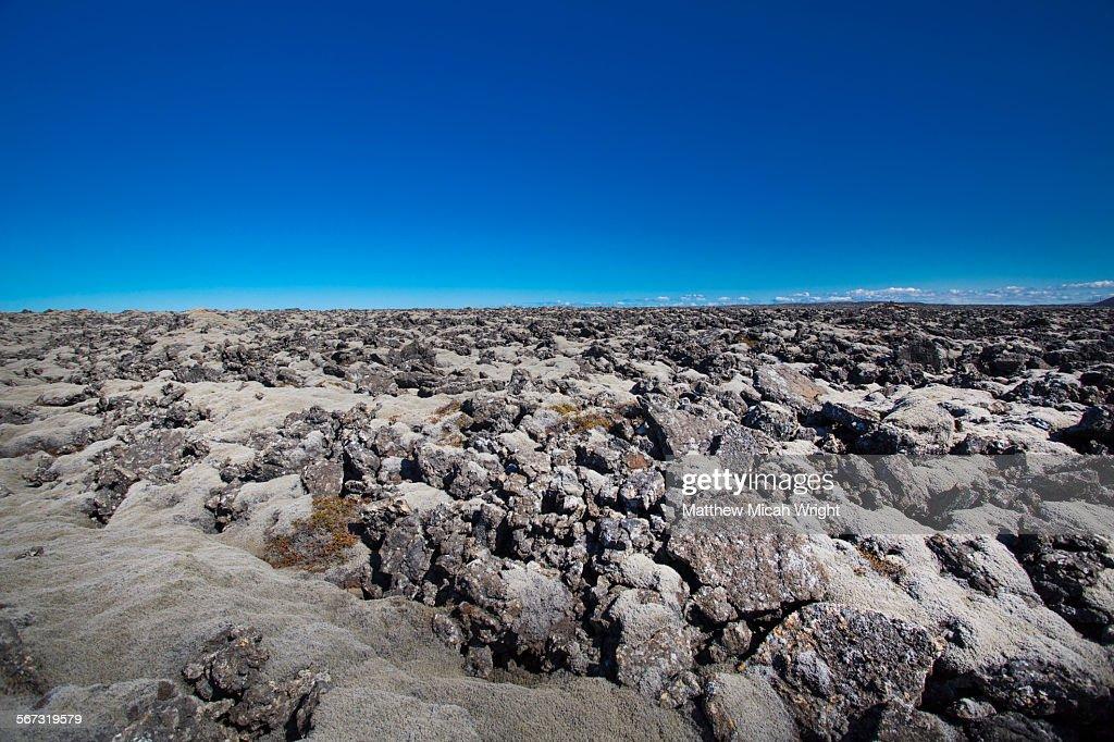 Volcanic terrain in Iceland.