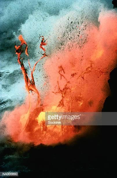 Volcano Erupting into the Sea
