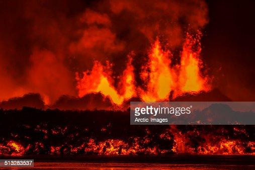 Volcano Eruption, Holuhraun Fissure, Iceland