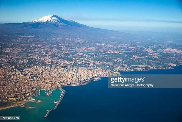 Volcano Etna and Gulf of Catania
