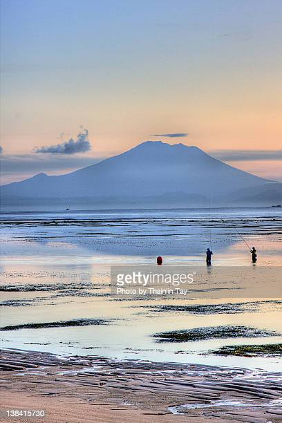 Volcano & Fishing Activity at Nusa Dua Beach