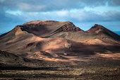 Volcano in Lanzarote, Canary Islands, Spain