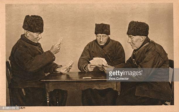 Volendam' circa 1900 Men playing cards in Volendam Holland Netherlands Artist Unknown