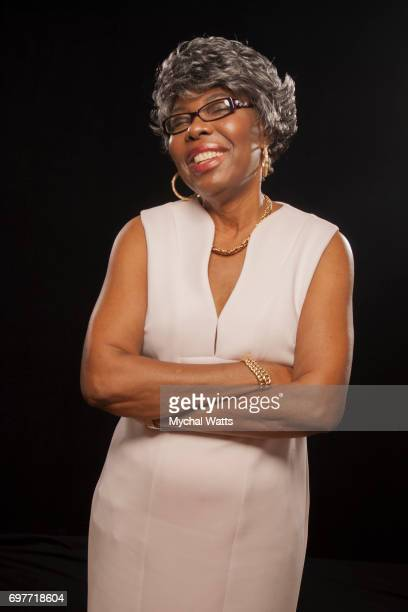 Voletta Wallace Mother of Biggie Smalls Poses for a Portrait on Day 3 of the American Black Film Festival on June 14 2017 in Miami Florida