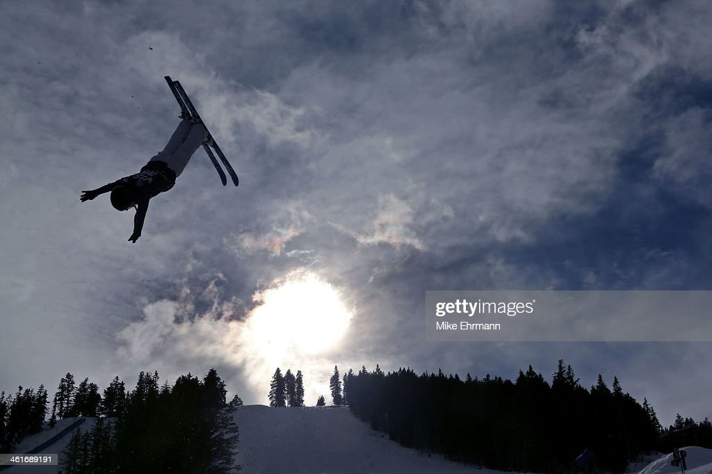 Volha Kapustsina of Bulgaria competes during qualifying for the Womens Aerials at the FIS Freestyle Ski World Cup Aerial Competition at Deer Valley...