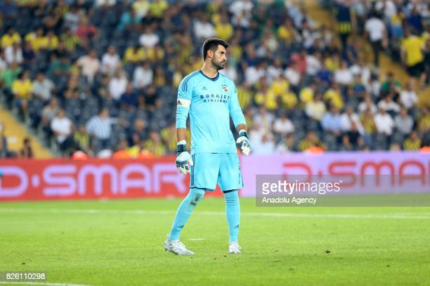Volkan Demirel of Fenerbahce is seen during the UEFA Europa League third qualifying round 2nd leg match between Fenerbahce and Sturm Graz at Ulker...
