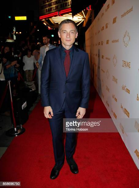 Volker Bruch attends the oremiere Of Beta Film's 'Babylon Berlin' at The Theatre at Ace Hotel on October 6 2017 in Los Angeles California