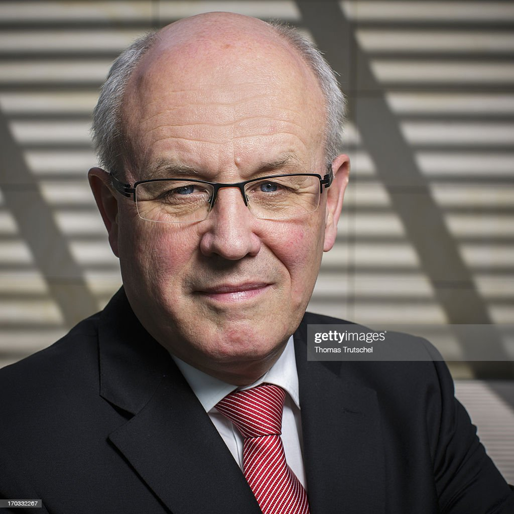 Volker Kauder, Chairman of the CDU/CSU parliamentary group in the Bundestag, poses during a Portrait Session on June 11, 2013, in Berlin, Germany.