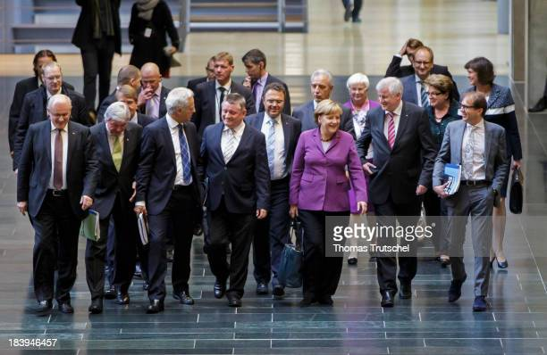 Volker Kauder Chairman of the CDU/CSU parliamentary group in the Bundestag Ministerpresident of Hesse Volker Bouffier German Transport Minister Peter...