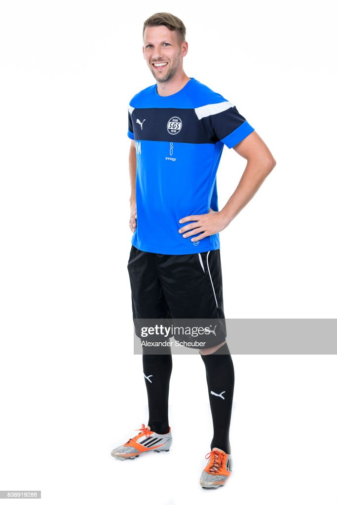 Volker Messmann of SGS Essen poses during the Allianz Frauen Bundesliga Club Tour at Stadion Essen on August 22, 2017 in Essen, Germany.