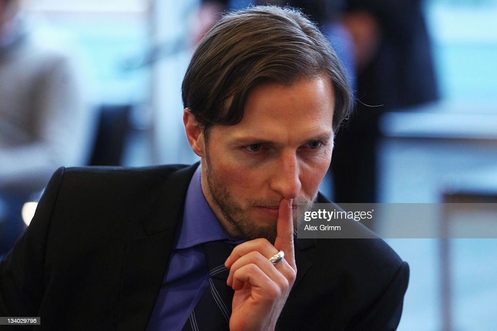 Volker Oppitz director of Dynamo Dresden waits for the start of the DFB Court trial at the DFB headquarter on November 24 2011 in Frankfurt am Main...