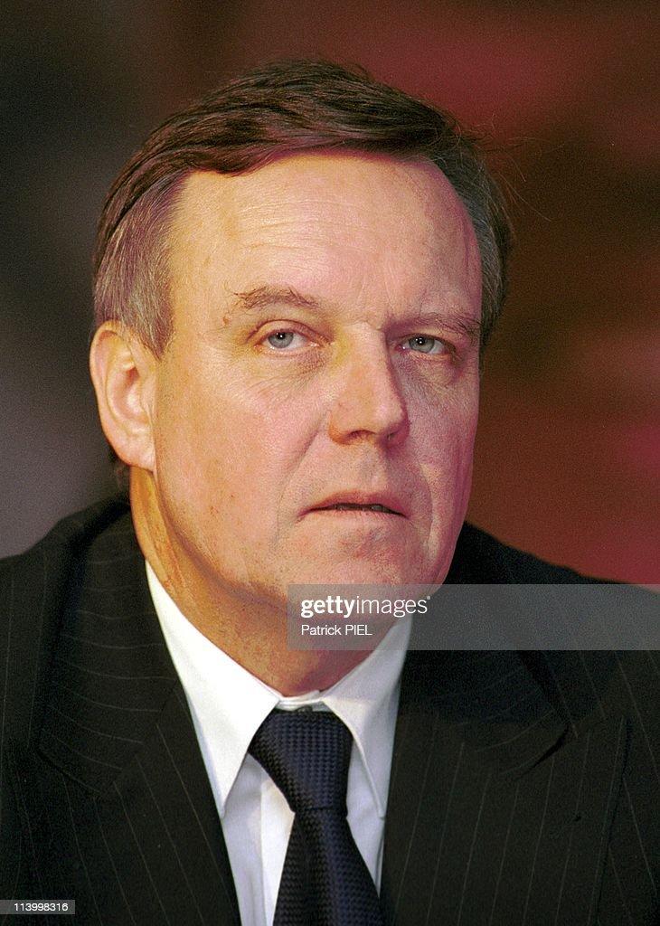 Volker Ruhe, Candidate To Cdu Presidence In Kiel, Germany On January 16, 2000.