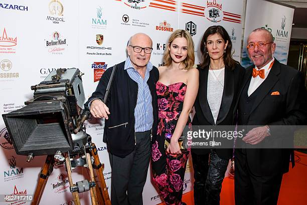 Volker Schloendorff Emilia Schuele Ute Wieland and Leonhard R Mueller attend the Askania Award 2015 at Kempinski Hotel Bristol on February 3 2015 in...