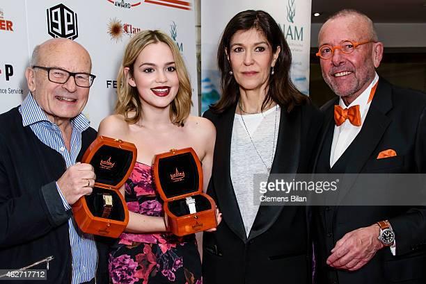 Volker Schloendorff Emilia Schuele Ute Wieland and Leonhard R Mueller attend the Askania Award 2015 at Kempinski Hotel Bristol on February 3 2015 in...