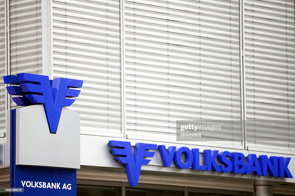 A Volksbank AG sign stands outside the company's offices in Schaan near Vaduz, Liechtenstein, on Tuesday, May 21, 2013. Liechtenstein, an alpine principality once fabled for its banking secrecy laws, remains a place favored by billionaires to stash the holding companies and investment entities that control their assets. Photographer: Valentin Flauraud/Bloomberg via Getty Images