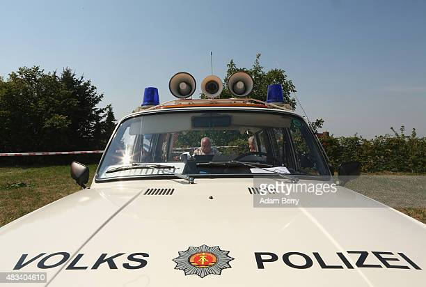Volkspolizei East German Wartburg automobile is seen at a Trabant enthusiasts' weekend on August 8 2015 near Nossen Germany The Trabant also called...