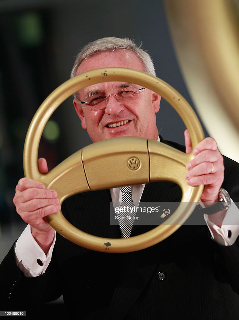 Volkswagen AG Chairman <a gi-track='captionPersonalityLinkClicked' href=/galleries/search?phrase=Martin+Winterkorn&family=editorial&specificpeople=840091 ng-click='$event.stopPropagation()'>Martin Winterkorn</a> attends the 2010 Das Goldene Lenkrad awards at Axel Springer Haus on November 3, 2010 in Berlin, Germany.