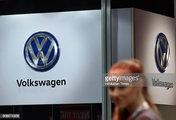Volkswagen at Auto Expo 2016 on February 5 2016 in Greater Noida India The 13th edition of the Delhi Auto Expo kicked off at the India Expo Mart in...