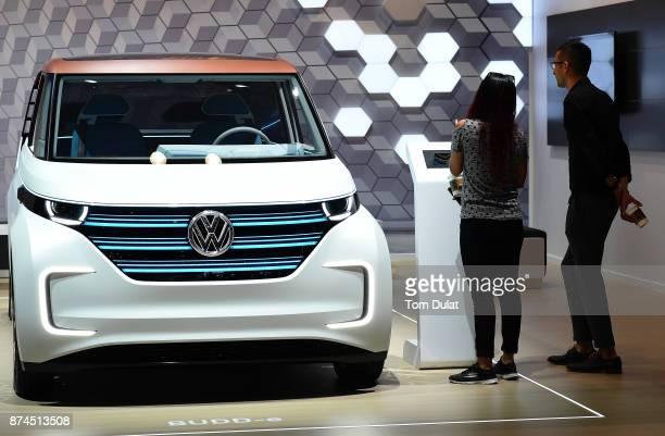 Volkswagen BUDDe Concept car is seen during Dubai Motor Show at Dubai World Trade Centre on November 15 2017 in Dubai United Arab Emirates