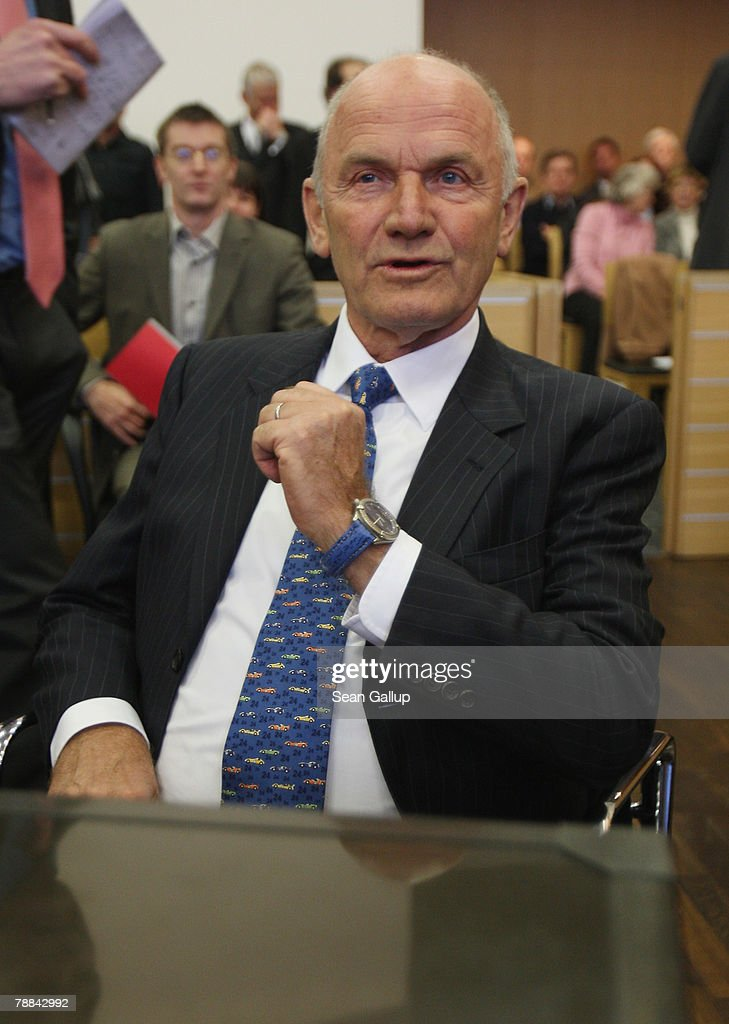 Volkswagen Chairman Ferdinand Piech arrives at court to testify in the current Volkswagen embezzlement trial January 9, 2008 in Braunschweig, Germany. Piech, who was chief executive at VW from 1993 to 2002, will face questioning over whether he knew of bribery and company-paid prostitution visits involving members of the Volkswagen works council at the time.