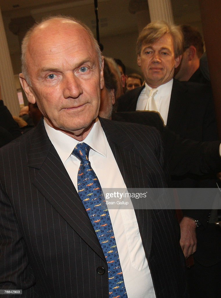 Volkswagen Chairman Ferdinand Piech (L) arrives with his lawyer Matthias Prinz at court to testify in the current Volkswagen embezzlement trial January 9, 2007 in Braunschweig, Germany. Piech, who was chief executive at VW from 1993 to 2002, will face questioning over whether he knew of bribery and company-paid prostitution visits involving members of the Volkswagen works council at the time.