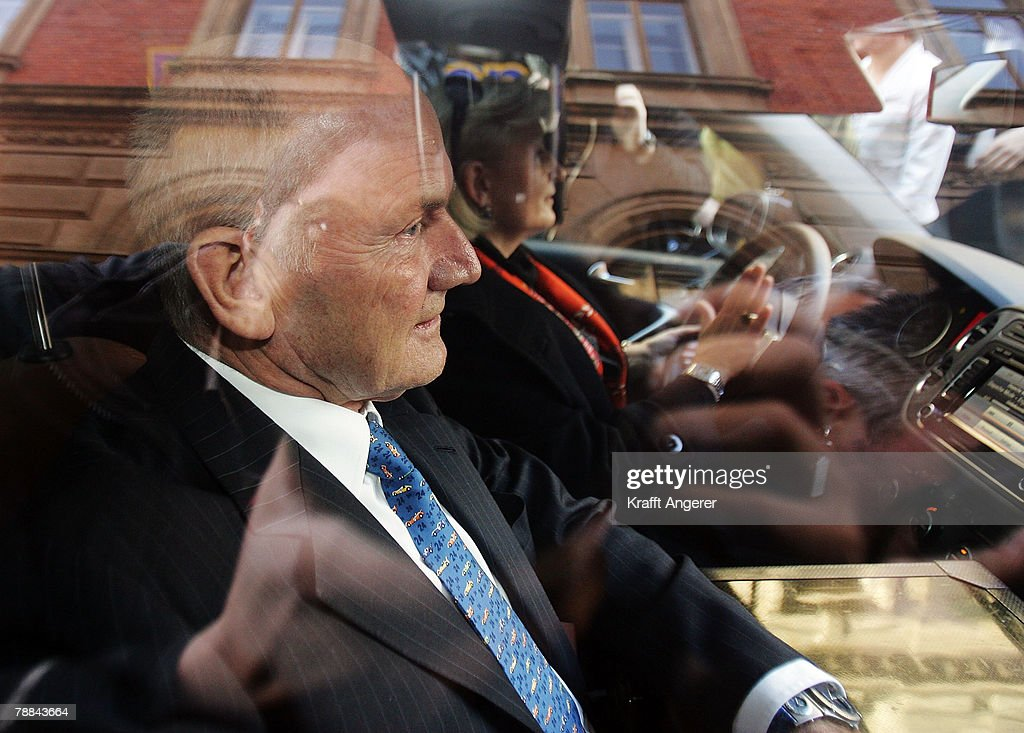 Volkswagen Chairman Ferdinand Piech emerges from court after testifying as a witness in the current Volkswagen embezzlement trial January 9, 2007 in Braunschweig, Germany. Piech, who was chief executive at VW from 1993 to 2002, denied he knew of bribery and company-paid prostitution visits involving members of the Volkswagen works council at the time.