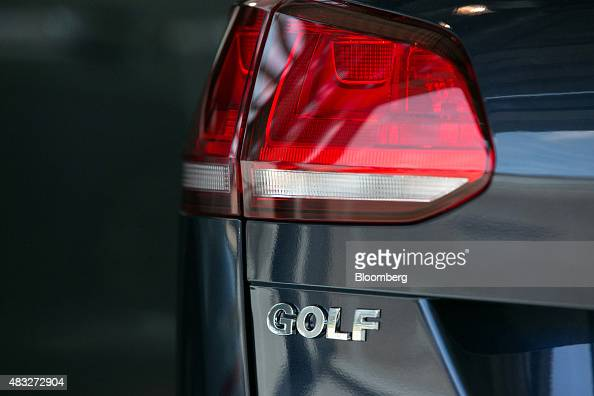 A Volkswagen Golf automobile sits on display inside the Volkswagen AG showroom in Berlin Germany on Thursday Aug 6 2015 In Europe the longest stretch...