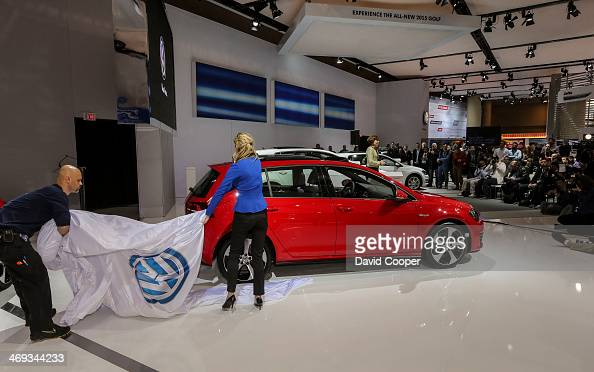 Volkswagen Golf is unveiled during the media day at the Canadian International Auto Show in Toronto February 13 2014