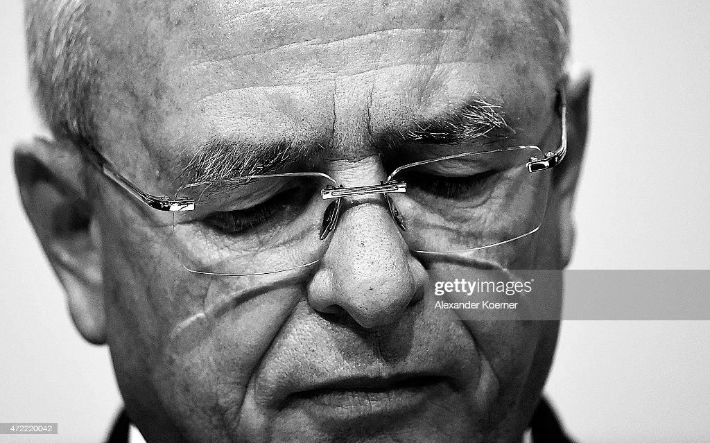 Volkswagen Group CEO <a gi-track='captionPersonalityLinkClicked' href=/galleries/search?phrase=Martin+Winterkorn&family=editorial&specificpeople=840091 ng-click='$event.stopPropagation()'>Martin Winterkorn</a> arrives for the Volkswagen annual general shareholders' meeting on May 5, 2015 in Hanover, Germany. Winterkorn recently won out in a power struggle against VW Group Chairman Ferdinand Piech, who stepped down afterwards and, along with his wife, quit his position on the VW supervisory board. Volkswagen Group, with its 12 brands, is Germany's biggest carmaker.